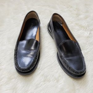 Chloe Black Leather Penny Loafers 37.5
